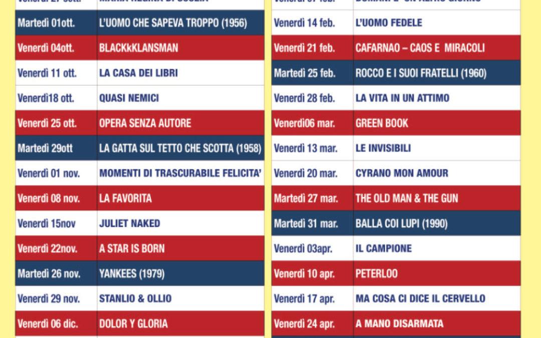Programma Cineclub 2019/2020